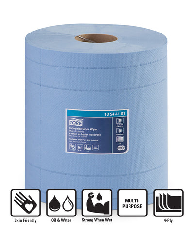 Tork® 440 Disposable Industrial Paper Wipers - Roll (Blue)