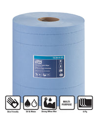 Tork® 440 Disposable Industrial Paper Wipers Roll (Blue)