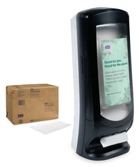 Tork® Advanced Xpressnap® AD-a-Glance Tall Stand Napkin Dispenser as shown in the UniFirst Facility Services catalog.