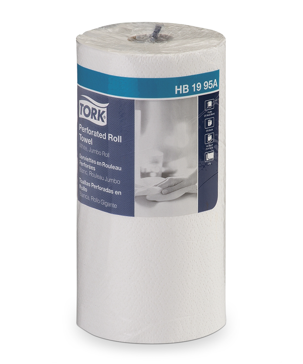 Tork® Perforated Paper Towels – Roll (White)