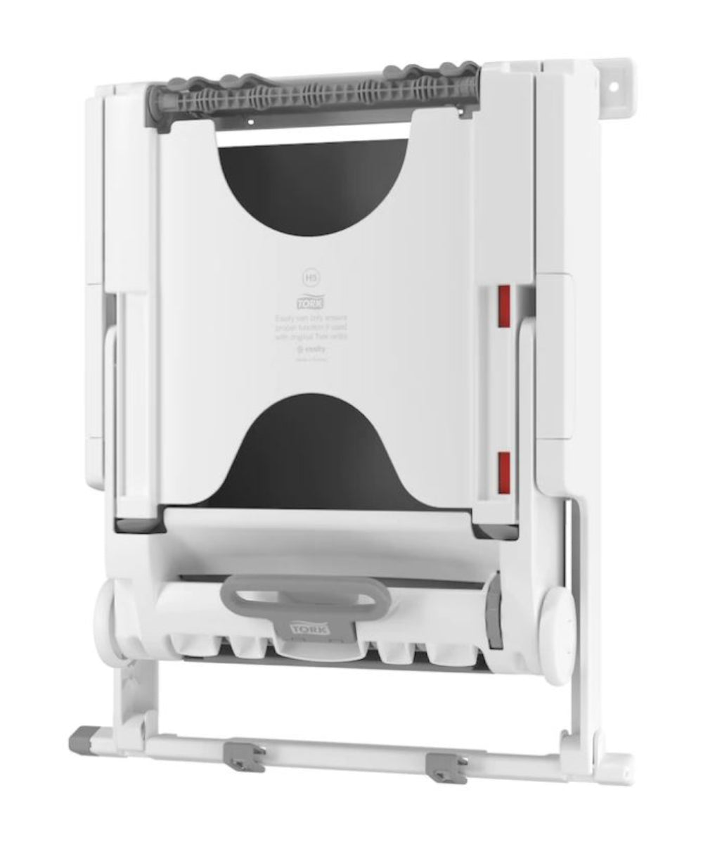 Tork PeakServe® Small Recessed Cabinet Towel Dispenser Adapters (White) as shown in the UniFirst Facility Services catalog.