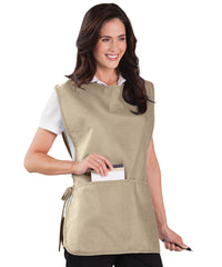 Tan Unisex Cobbler Aprons Shown in UniFirst Uniform Rental Service Catalog
