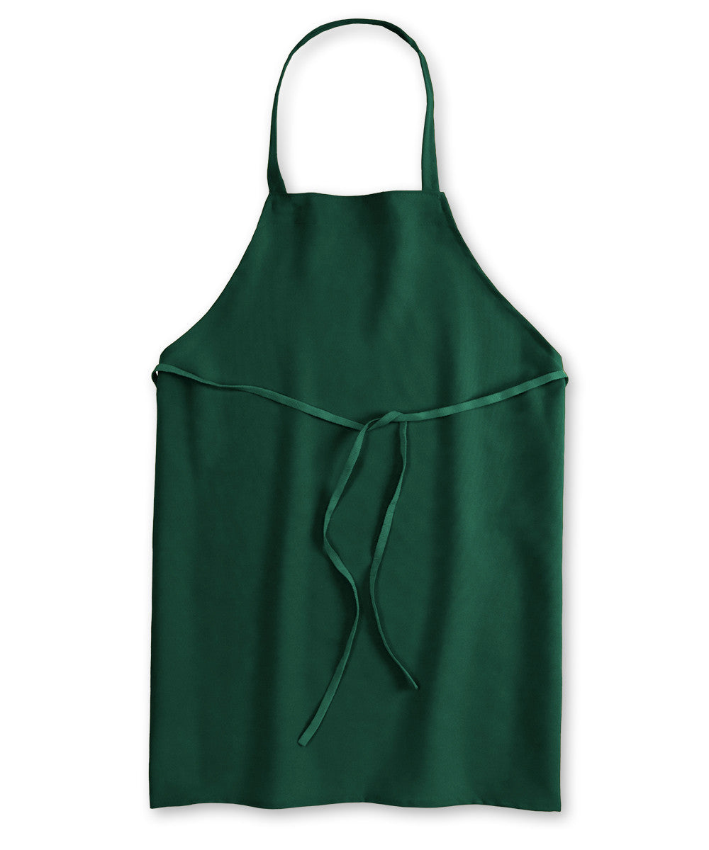 Forest Green Unisex Knee Length Bib Aprons Shown in UniFirst Uniform Rental Service Catalog