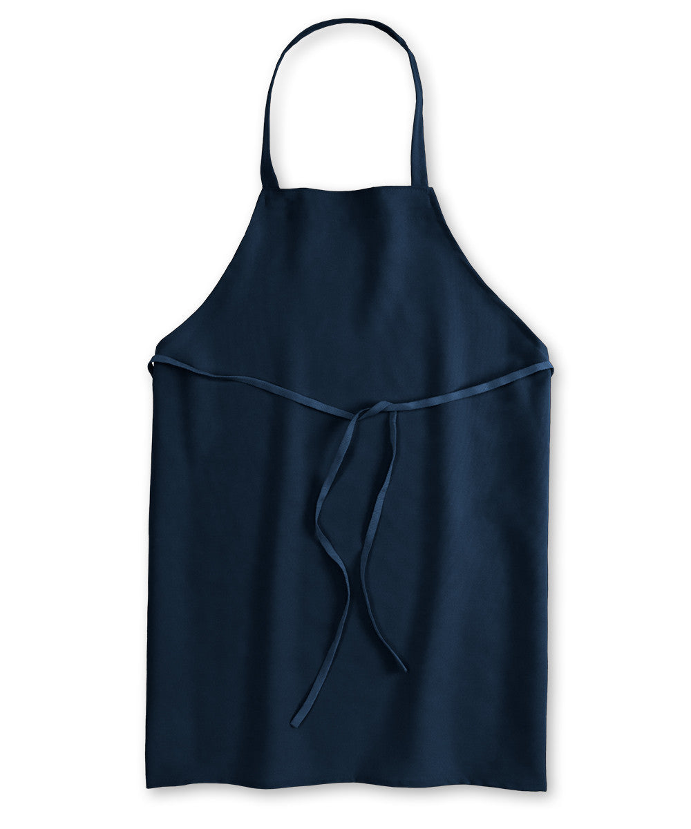Navy Blue Unisex Knee Length Bib Aprons Shown in UniFirst Uniform Rental Service Catalog