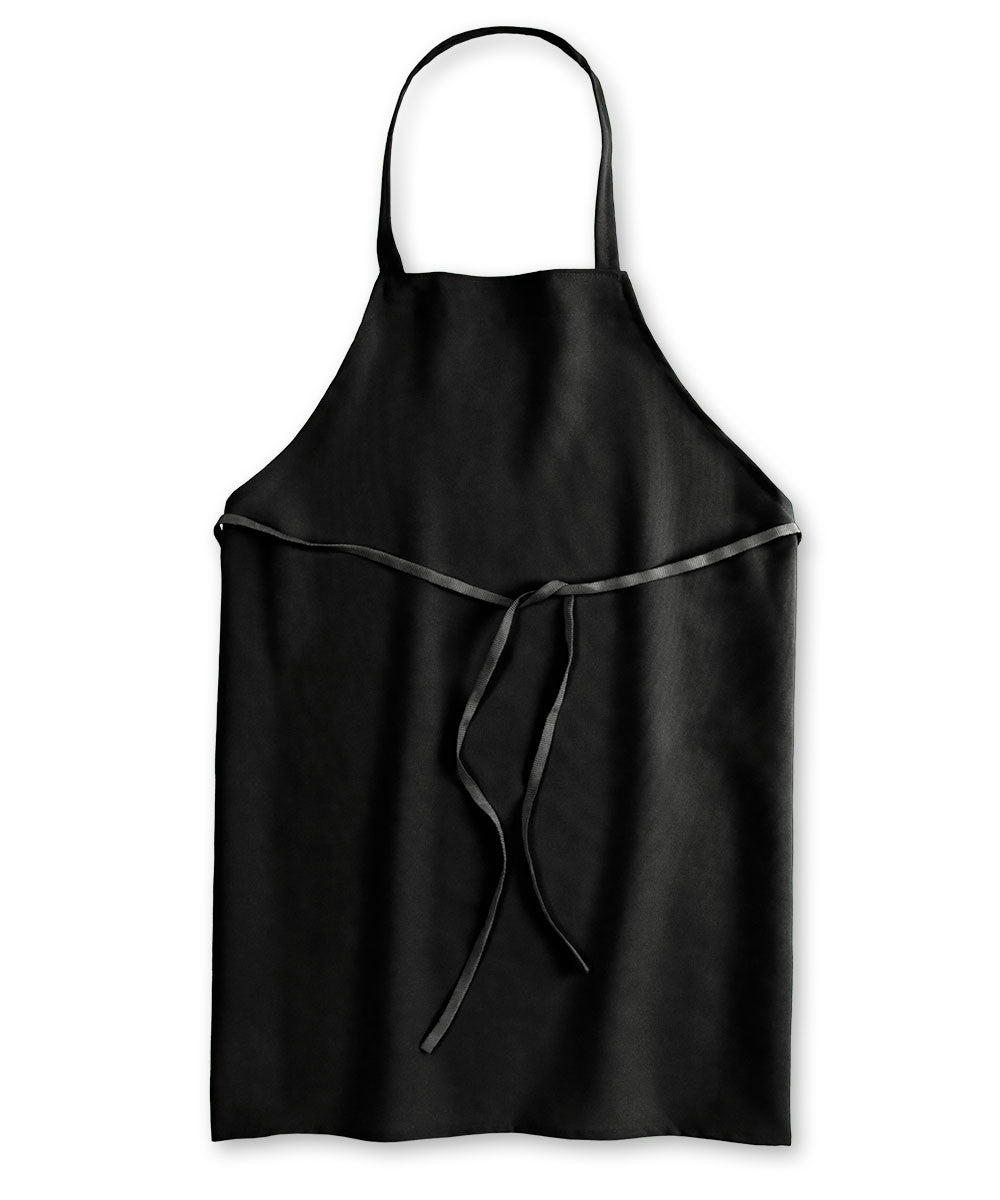 Black Unisex Knee Length Bib Aprons Shown in UniFirst Uniform Rental Service Catalog
