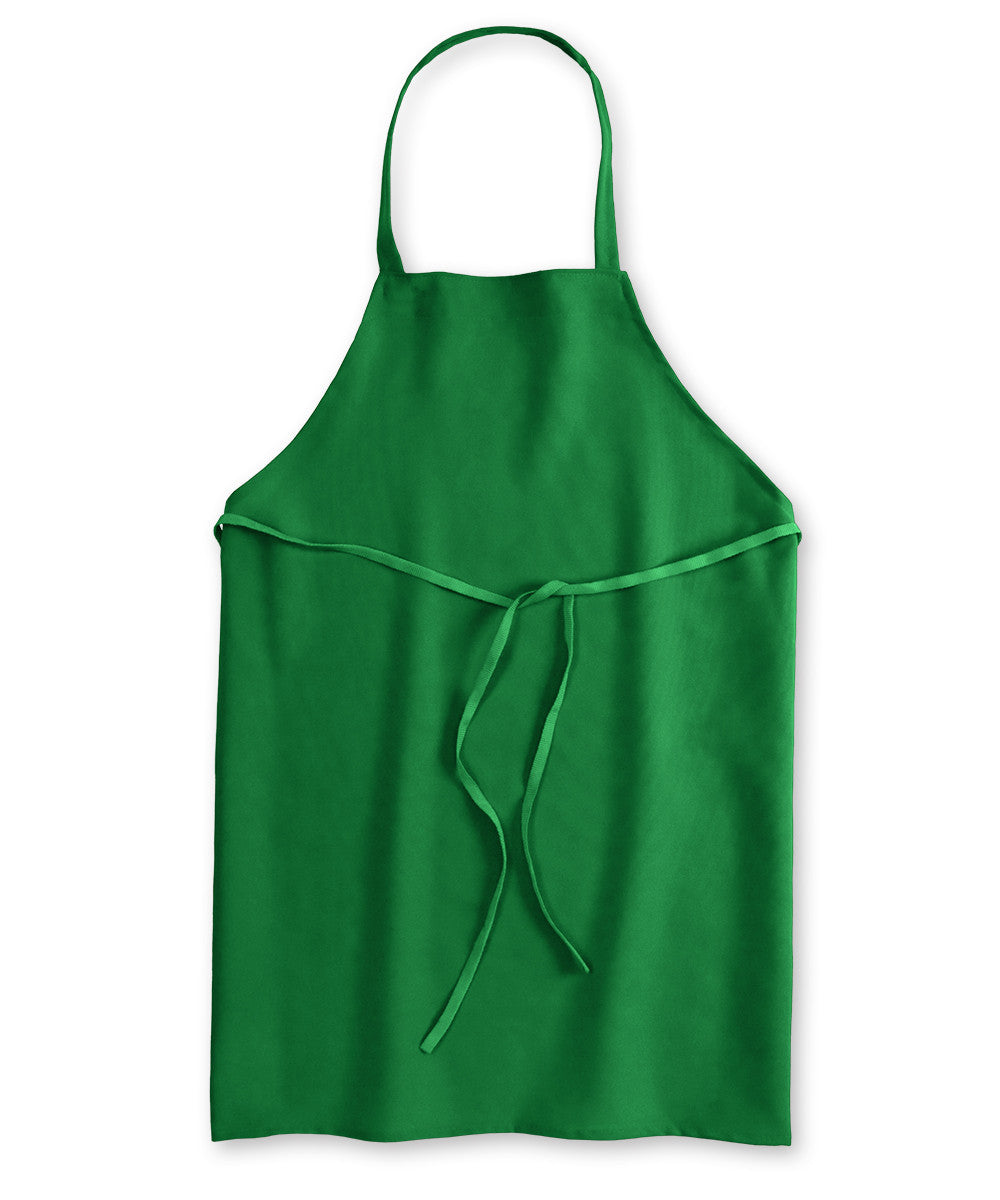 Kelly Green Unisex Knee Length Bib Aprons Shown in UniFirst Uniform Rental Service Catalog