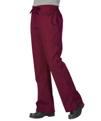 Burgundy Women's Flair Scrub Pants Shown in UniFirst Uniform Rental Service Catalog
