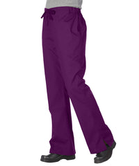 Eggplant Women's Flair Scrub Pants Shown in UniFirst Uniform Rental Service Catalog