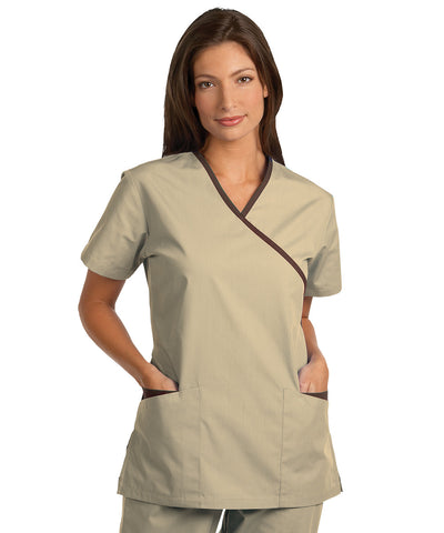 Women's Cross-Over Scrub Top Tunics by Fashion Poplin®