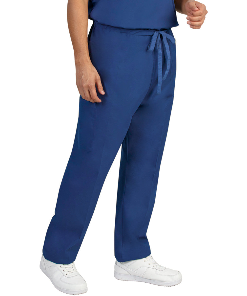 Royal Blue Unisex Cargo Scrub Pants Shown in UniFirst Uniform Rental Catalog