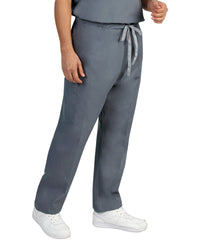 Pewter Unisex Cargo Scrub Pants Shown in UniFirst Uniform Rental Catalog
