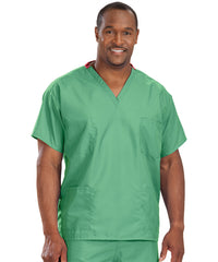 Jade Unisex Reversible Scrub Tops Shown in UniFirst Uniform Rental Service Catalog