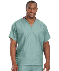 Misty Unisex Reversible Scrub Tops Shown in UniFirst Uniform Rental Service Catalog