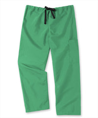 Jade Unisex Cargo Scrub Pants with Tie Waist Shown in UniFirst Uniform Rental Service Catalog