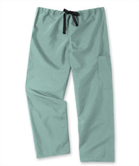 Misty Unisex Cargo Scrub Pants with Tie Waist Shown in UniFirst Uniform Rental Service Catalog