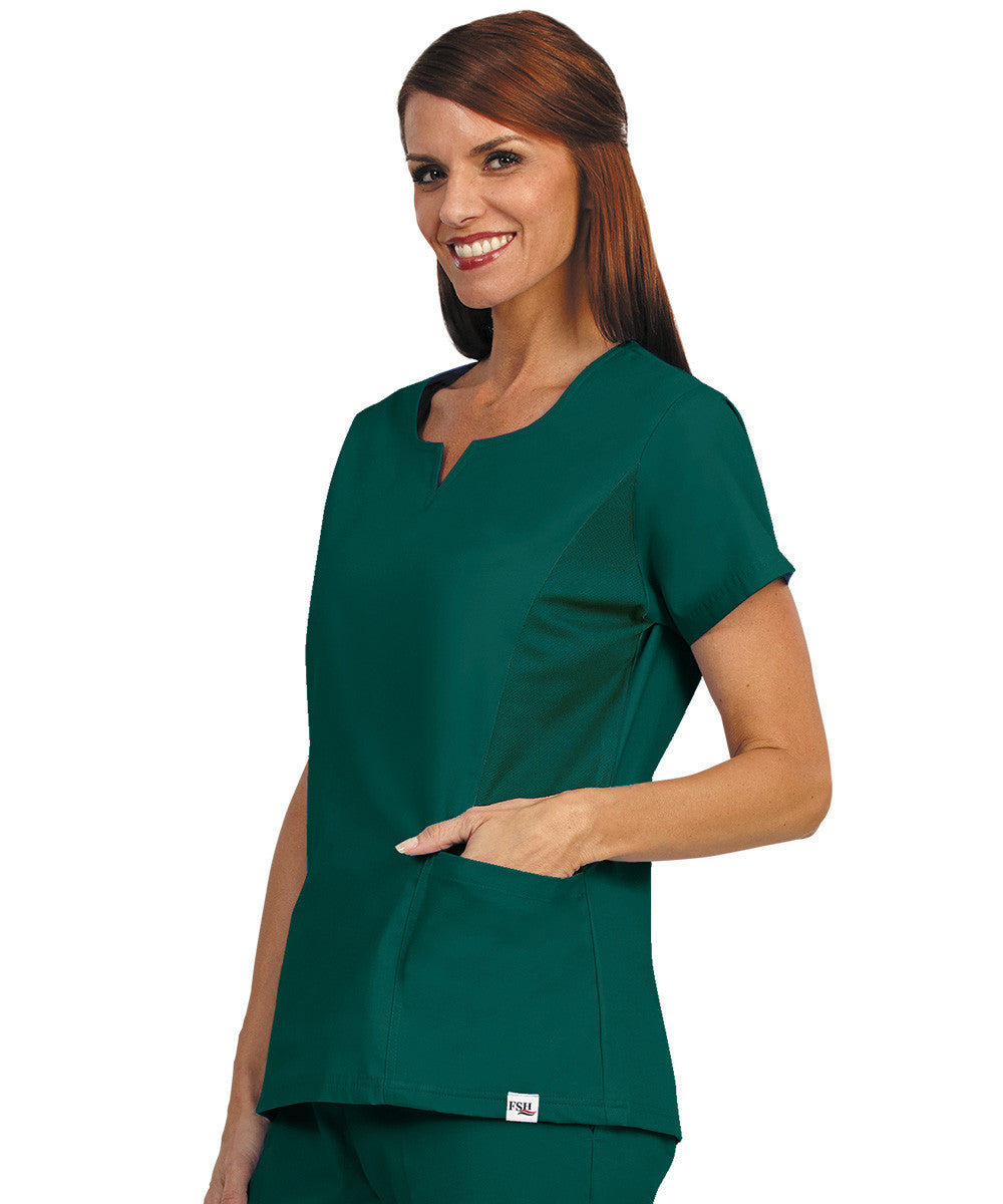 Women's Notched-Neck Tunics with Side Flex