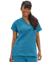 Women's Mock Wrap Tunics Scrub Tops