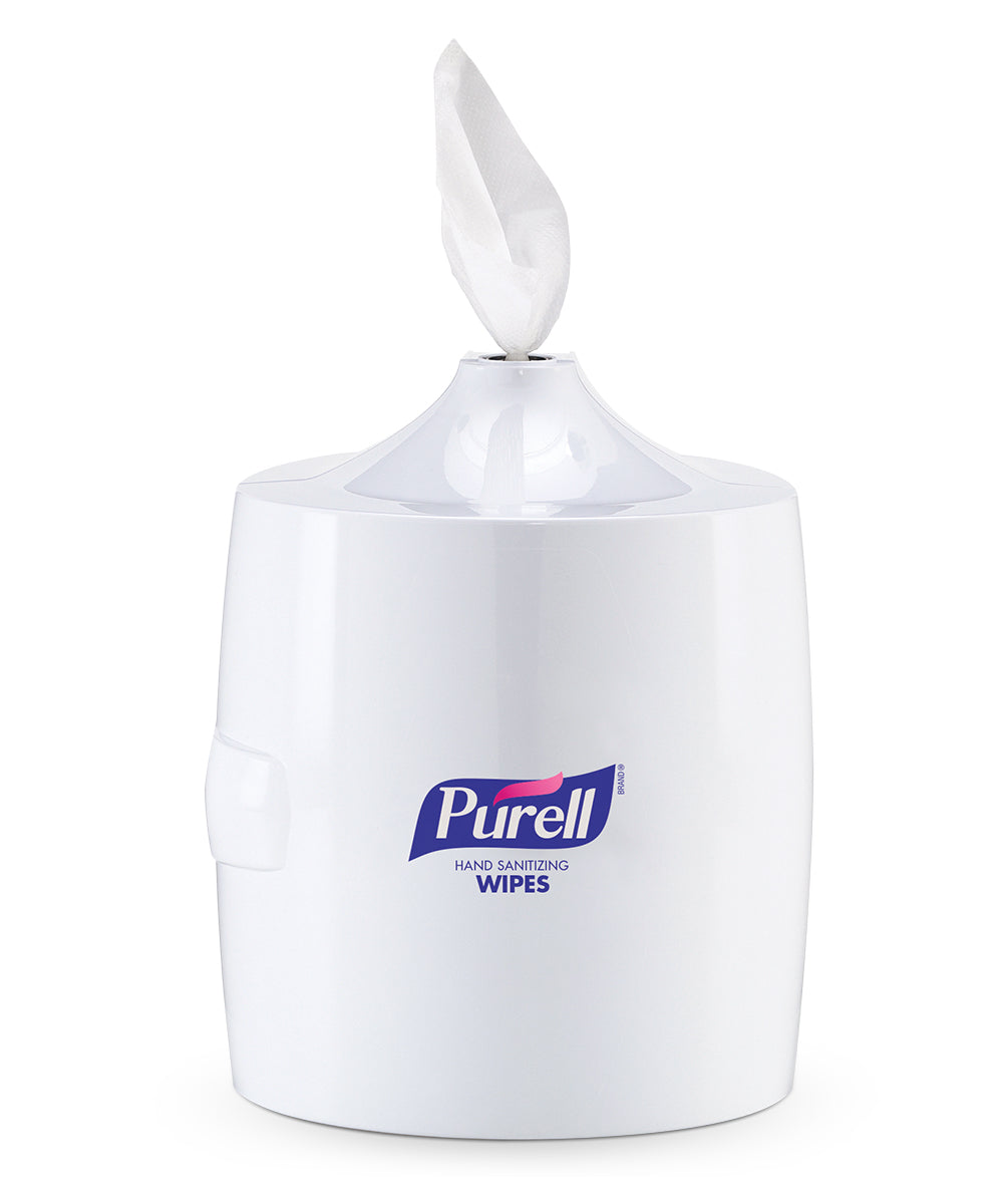 PURELL® Hand Sanitizing Wipes High Capacity Floor Stand Dispensers as shown in the UniFirst Facility Services Catalog