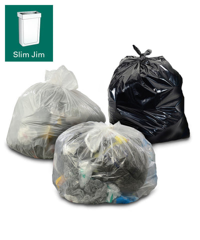 45 gallon slim jim trash can liners us only
