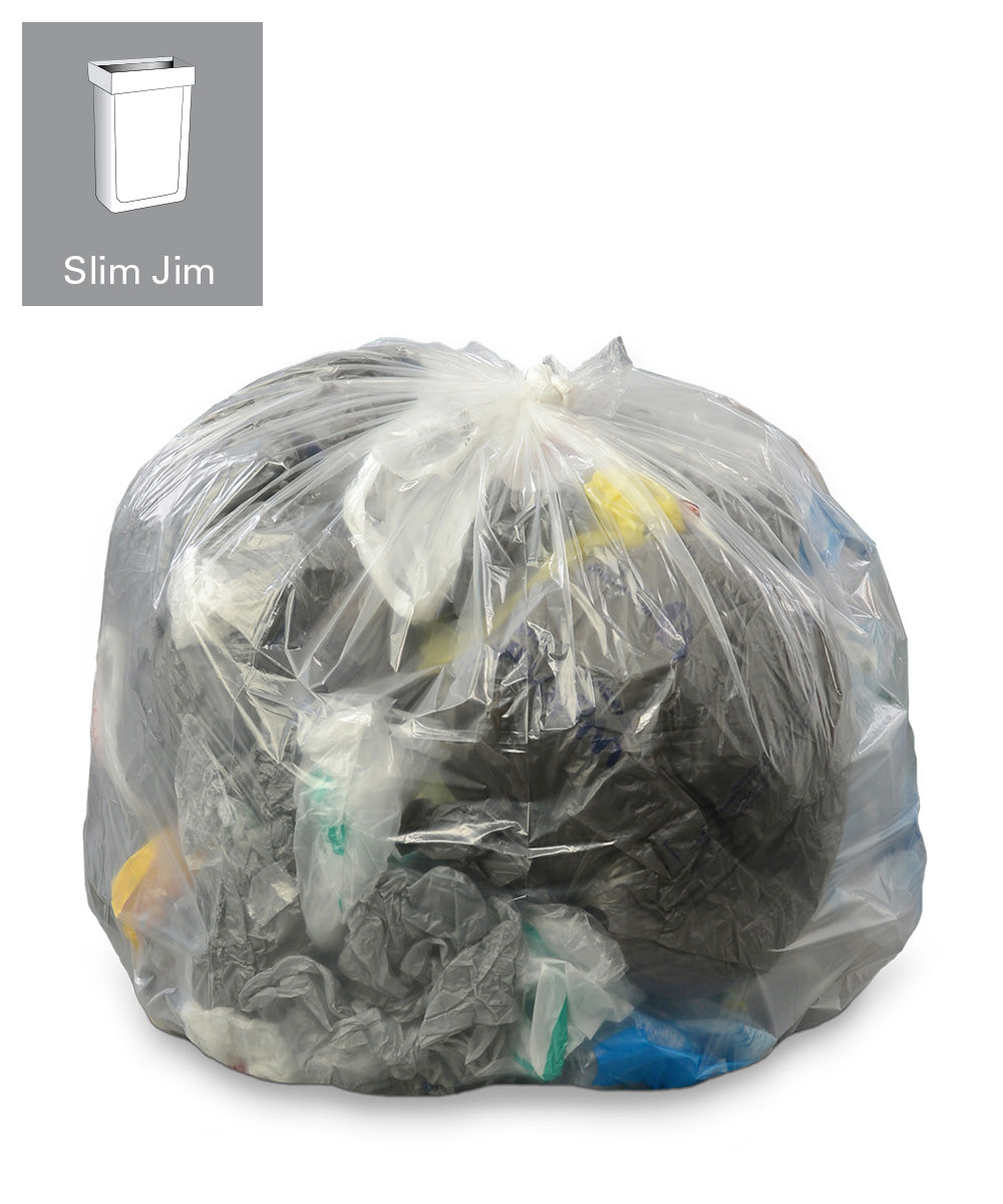 23 Gallon Clear Accufit Trash Can Liners (US only) as shown in the UniFirst Facility Services catalog.