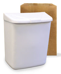Waste Receptacle with Liners for Feminine Hygiene Products as shown in the UniFirst Facility Services catalog.