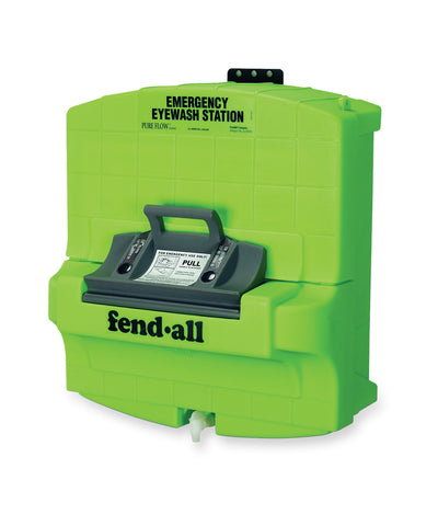 Deluxe Emergency Eyewash Stations as shown in the UniFirst Safety Products & PPE catalog.