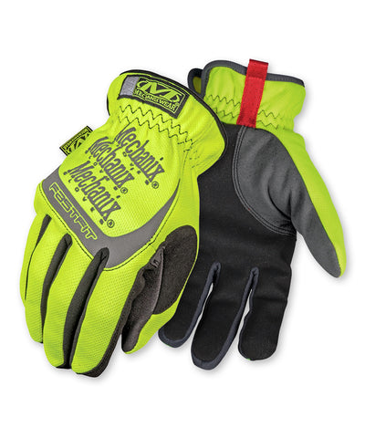 Mechanix Wear® FastFit® Safety Hi-Viz Gloves as shown in the UniFirst Safety Products & PPE catalog.