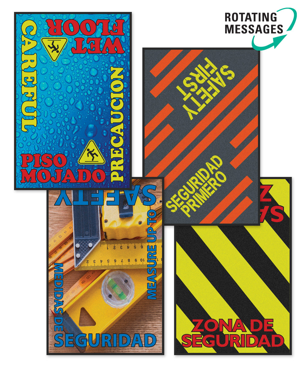 Safety Message Floor Mats 3' x 5'