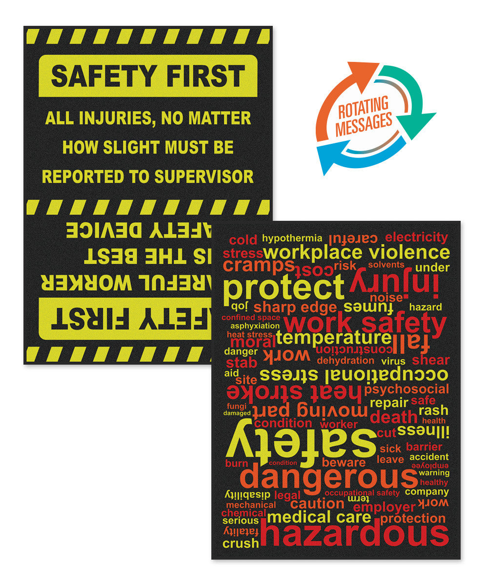 Safety Message Floor Mats 6' x 8'