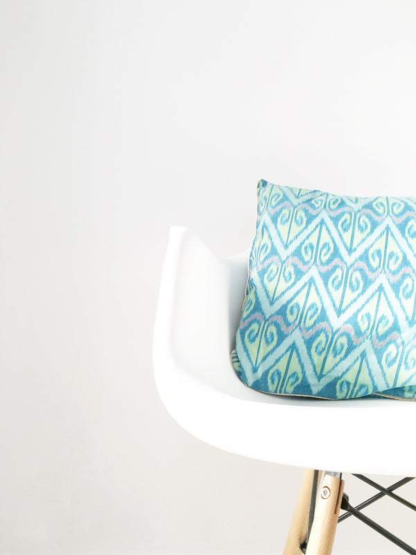 Green Boho Cushion Cover
