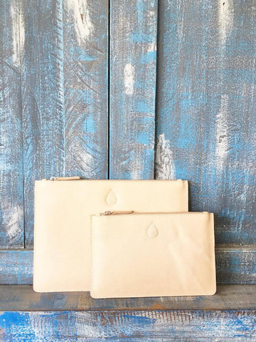 Island Luxe Leather Clutch