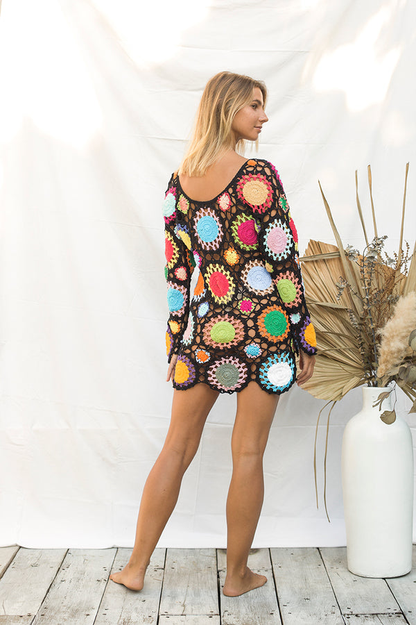 Flower Power Crochet Dress