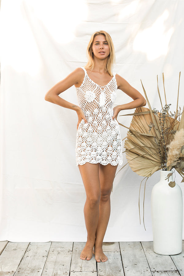 White Crochet Dress (PRE ORDER
