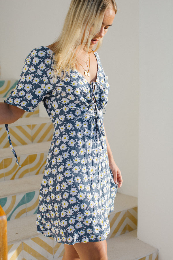 Melody Dress in Daisy Print