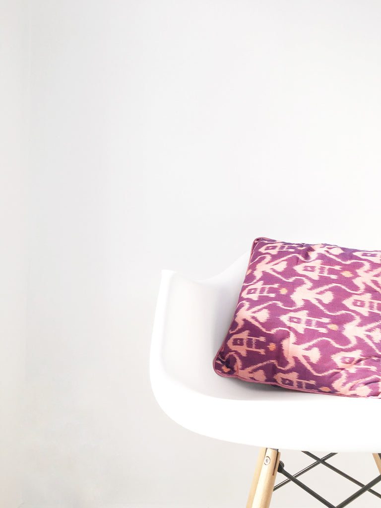 Purple Boho Cushion Cover