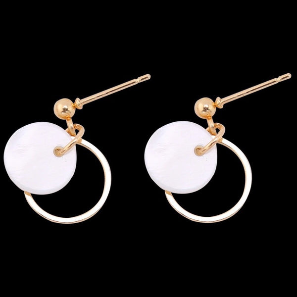 Mini Shell Hoop Earrings