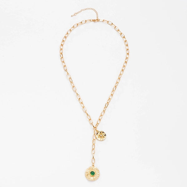 Chain Disc Gold Necklace