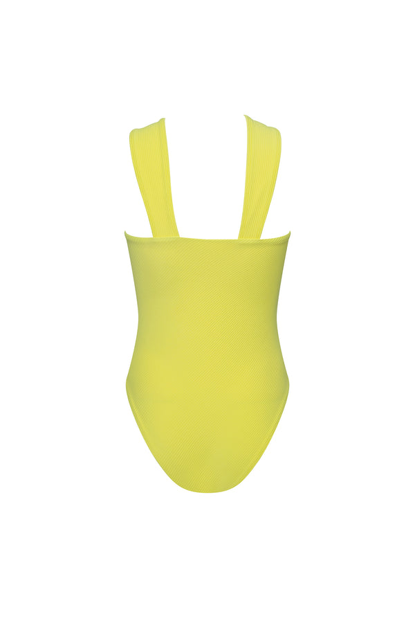 Bardot swimsuit in Lemon