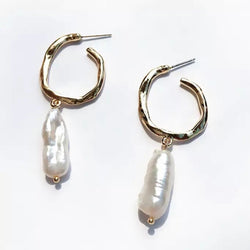 Oyster Hoops Earrings