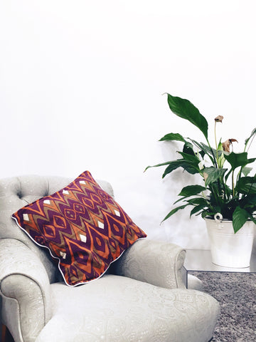 Orange Motif Cushion Cover