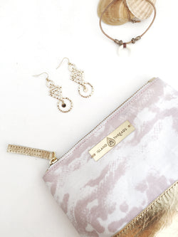 Pink & Gold Island Threads Make Up Bag