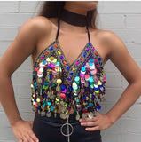 Koko Sequin Gypsy Top