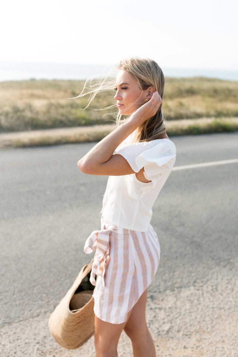 Striped Linen Skirt