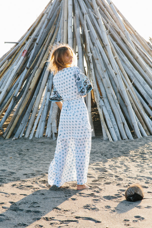 Silk Road Kimono Wrap Dress