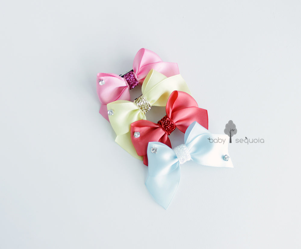 Baby Sequoia My Favorite bow hair clip set / headband set