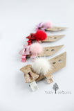 Baby Sequoia Scarlett hair clip set