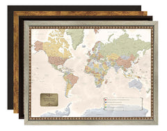 Choose Your Frame Personalized World Map