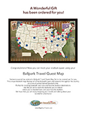 Ballparks Travel Map Gift PDF