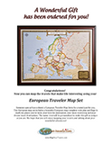 European Traveler Map Gift PDF