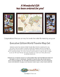 Executive World Traveler Map Gift PDF